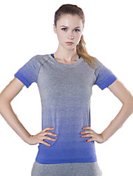 New Wicking Compression Tights Fitness T-Shirt Running Training Clothes Yoga Clothing Short Sleeve Gym T Shirts Women