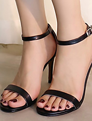 Women's Sandals Summer Sandals / Open Toe PU Casual Stiletto Heel Others Black / White Others