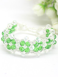 Strand Bracelets 1pc,Red / Blue / Green Bracelet Fashionable Circle 514 Crystal Jewellery