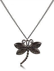 European Style Gold Alloy Dragonfly  Pendant Necklace