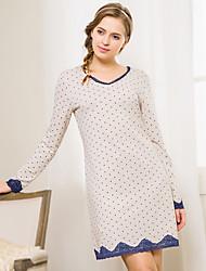 Pyjama Coton / Dentelle / Spandex Femme