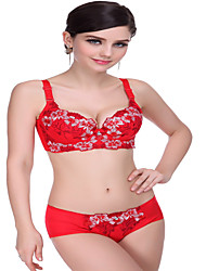 Full Coverage Bras & Panties Sets,Adjustable Polyester