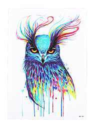 1pc Waterproof Fake Temporary Tattoo Sticker Pretty Vivid Owl Pattern Body Art Tattoo for Girl Women Men HB-361
