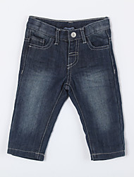 Boy's Casual/Daily Solid PantsCotton Blue