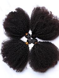 Menschenhaar spinnt Mongolisches Haar Kinky Curly 12 Monate 4 Stück Haar webt