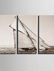 toile set Paysage Style européen,Trois Panneaux Toile Verticale Imprimer Art Décoration murale For Décoration d'intérieur