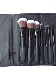 8 Pcs Wood Handle Artificial Hair Makeup Brushes Sets With Bag