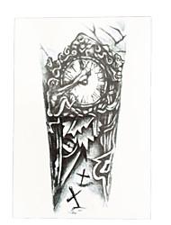 1pc Temporary Women Men Body Art DIY Waterproof Clock Grave Cross Flower Arm Leg Tattoo Sticker HB-035