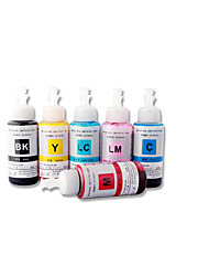Epson L800 Ink 70Ml,A Pack Of 6Boxes, Each Box Different Colors,Black, Cyan, Yellow, Magenta, Light Cyan, Light Magenta