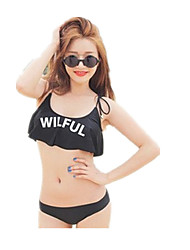 Personality Lotus leaf Bra Bikini Split Female Swimsuit