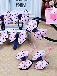 Korean Children Bow Fabric Headbands Suit