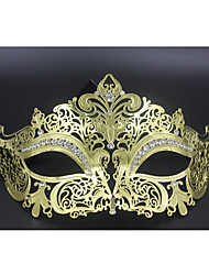 Sexy Venetian Mask Masquerade Rhinestone Laser Cut  Metal Party3003A3