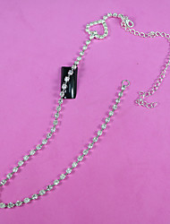 plaqué 32cm diy bijoux ongles strass argent garniture chaîne strass coupe de cristal de métal