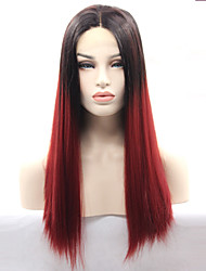 Synthetic Glueless Lace Front Wig Ombre 99J Lace Front Wigs for Women Hot Selling