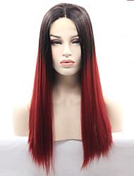 pelucas sintéticas glueless del frente del cordón peluca delantera ombre 99j de encaje para las mujeres vendedoras calientes