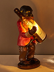 Personality Create Resin Orangutan with Glass Table Lamp Fit for the Study Room / Bedroom / Foyer Dest Light