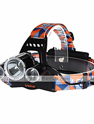 U`King® Headlamps / Headlamp Straps LED 9000LM Lumens 4 Mode Cree XM-L T6 18650 Rechargeable / Compact SizeCamping/Hiking/Caving /