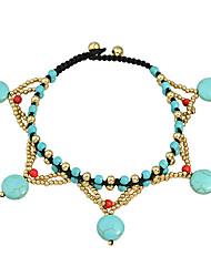 Bracelet Loom Bracelet Acrylique Others Mode / Bohemia style Soirée / Quotidien Bijoux Cadeau Bronze / Bleu,1pc