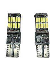 2pcs 20w vw golf lampe LED de plaque d'immatriculation peut-bus sans erreur or résistance lampe led largeur lampe led interiror