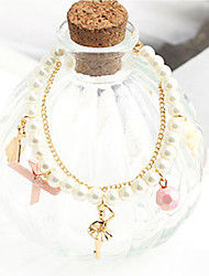 Strand Bracelets 1pc,White Bracelet Fashionable Circle 514 Imitation Pearl Jewellery