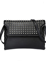 Women PU Casual Outdoor Shopping Shoulder Bag Clutch Rivet  Wallet Envelope