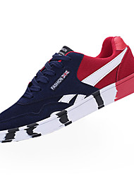 Men's Sneakers Spring / Winter Comfort Suede Casual Flat Heel Black / Blue / Red Walking