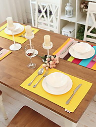 100% Coton Rectangulaire Sets de table