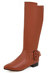 Women's Boots Spring / Fall / Winter Fashion Boots Leatherette Wedding / Outdoor / Dress / Casual Low Heel