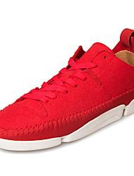 Da uomo-Sneakers-Tempo libero Casual SportivoPiatto-Finta pelle-Nero Blu Rosso Arancione Nero e rosso
