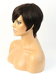 New Arrival Indian Remy Short Cut Human Hair Short Machine Made Wig