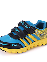 Girl's Athletic Shoes Spring Fall Comfort PU Casual Flat Heel Magic Tape Blue Yellow Green Red