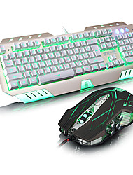 Juggernaut Family Taiji Backlit Keyboard And Mouse Suit Computer Usb Wired Gaming Keyboard And Mouse Set Mechanical Lol