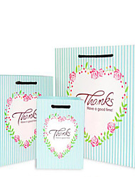 Factory Outlet Exquisite Floral Striped Thank You Gift Bags Gift Bags Candy Bags Favor Bags Wedding A Five Pack