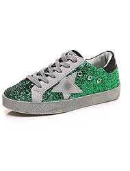 Da donna-Sneakers-Formale / Casual-Comoda-Piatto-PU (Poliuretano)-Verde / Grigio