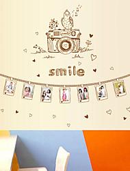 Romance Stickers muraux Stickers avion Stickers muraux décoratifs,PVC Matériel Repositionable Décoration d'intérieur Wall Decal