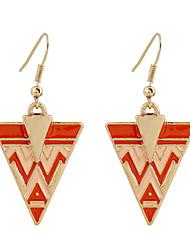 Fine Jewelry Fashion Charms Cute Triangular Zinc Alloy Earrings