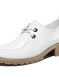 Homme-Bureau & Travail / Décontracté-Noir / Blanc-Gros Talon-Talons-Chaussures à Talons-Synthétique