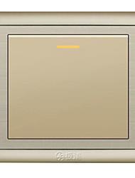 um interruptor de parede roqueiro de controle aberto