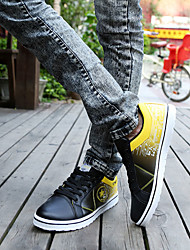 Men's Sneakers Spring / Fall Comfort PU Casual Flat Heel  Blue / Yellow / Red / White Walking