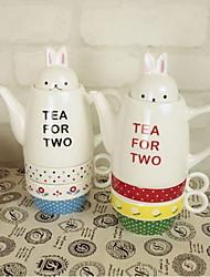 le lapin en céramique couple tasse de café