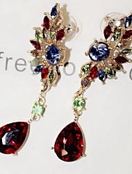 Women's Drop Earrings Fashion European Gemstone Imitation Diamond Alloy Geometric Wings / Feather Jewelry For Daily Casual
