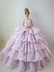 Party & Evening Dresses For Barbie Doll Light Purple Lace Dresses