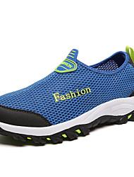 Women's / Men's Flats Summer Sandals Tulle Outdoor Flat Heel Slip-on Blue / Gray / Fuchsia / Royal Blue