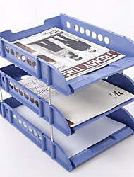 Combined Three Layers Document Tray Multifunctional Office Documents Arrange Tray Storage Tray
