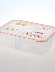 Food Grade Box 4 Compartment Lunch Container for Storage