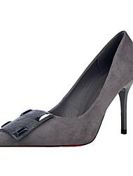 Damen-High Heels-Kleid-Kunstleder-Stöckelabsatz-Absätze / Spitzschuh / Geschlossene Zehe-Schwarz / Rot / Grau / Burgund