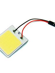 2pcs автомобиль автомобиль водить 48 СМД чип початка с T10 + гирлянда гнездо панели света интерьера белый шарик (DC12V)