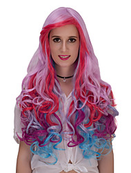 Light purple gradient long curly hair wig.WIG LOLITA, Halloween Wig, color wig, fashion wig, natural wig, COSPLAY wig