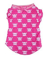 Dog Shirt / T-Shirt Pink Dog Clothes Summer Skulls Casual/Daily