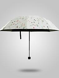 Bege Guarda-Chuva Dobrável Sombrinha / Ensolarado e chuvoso / Chuva Metal / têxtil / BorrachaCarrinho / Crianças / Viagem / Lady /